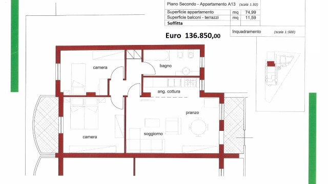 Appartamenti di recente costruzione a Loreto Stazione